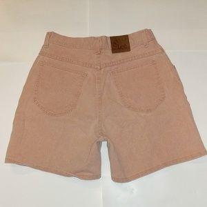 Riveted Lee super high rise shorts